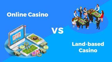 Fysieke casino's vergeleken met casino sites